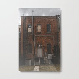 Alleyway in Denton, TX on a Stormy Day Metal Print