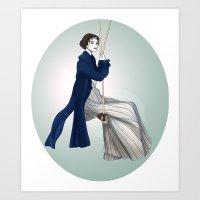 pride and prejudice Art Prints featuring Fashion Illustration - Pride & Prejudice by BeckiBoos