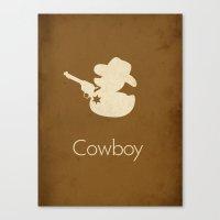cowboy Canvas Prints featuring Cowboy by S. Vaeth