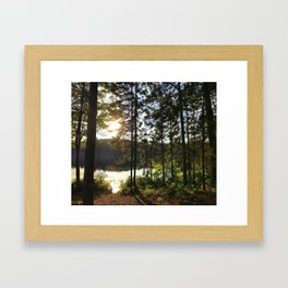 Portage through Algonquin Park, Ontario Framed Art Print
