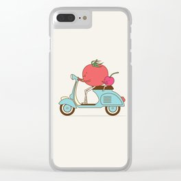 Cherry Tomato Clear iPhone Case