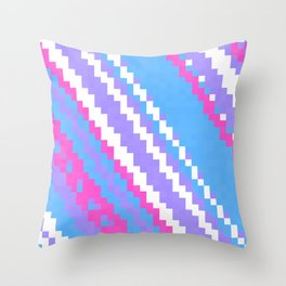 pink blue purple and white Throw Pillow