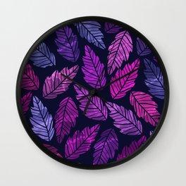 Colorful leaves III Wall Clock