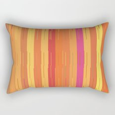 Orange and Yellow Stripes and Lines Abstract Rectangular Pillow