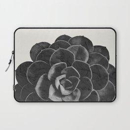Succulent Black Marble Laptop Sleeve