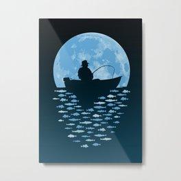 Hooked by Moonlight Metal Print