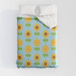 Kawaii Sunflowers Duvet Cover