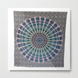 Queen Hippie Mandala Tapestries Wall Hanging Metal Print