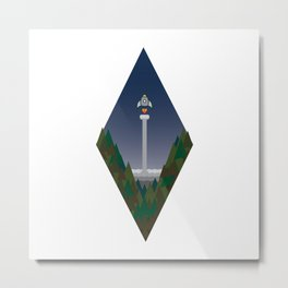 Rocket in the forest Metal Print