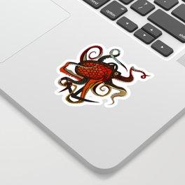 octopus ink teal Sticker