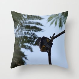 A bird hidden in the open Throw Pillow