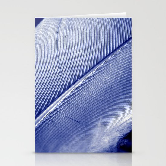 blue feather II Stationery Cards