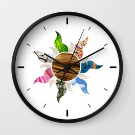 Tangled Flower Wall Clock