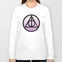 deathly hallows Long Sleeve T-shirts featuring Deathly Hallows by AriesNamarie