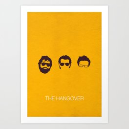 The Hangover Minimal Poster Art Print