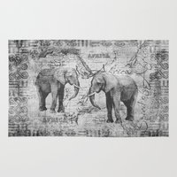 african Area & Throw Rugs featuring African Spirit by LebensART