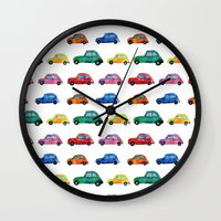italian Wall Clocks featuring Italian cars  by Katerina Izotova Art Lab