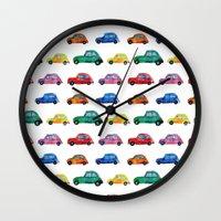italian Wall Clocks featuring Italian cars  by Katerina Izotova