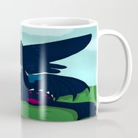 toothless Mugs featuring Toothless by DaemonDeDevil