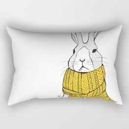 Rabbit in a yellow scarf Rectangular Pillow