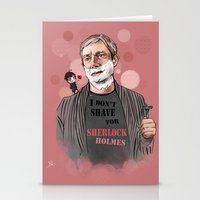 johnlock Stationery Cards featuring Shaving by Monika Gross
