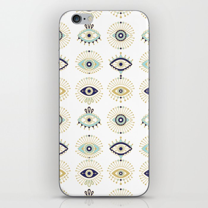 Evil Eye Collection on White iPhone Skin