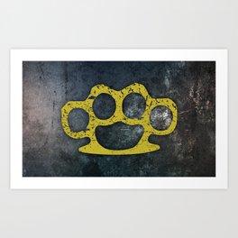 Brass Knuckles Art Print