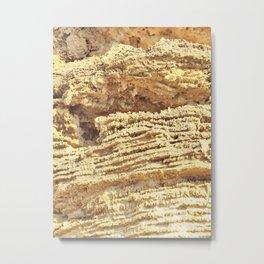 natural collection. rock wall. Greece Metal Print