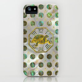 Golden Tortoise / Turtle Feng Shui Abalone Shell iPhone Case