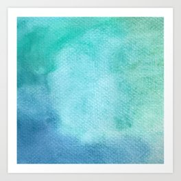 Blue Watercolor Texture Art Print