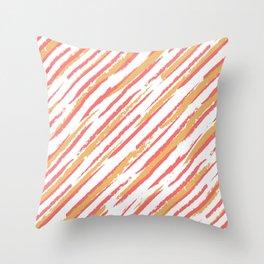 Summer Stripe Sizzle Throw Pillow