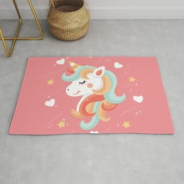 Cutest Unicorn Ever - Pink Rug