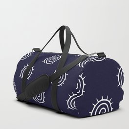 nautical blue and white spiral pattern Duffle Bag