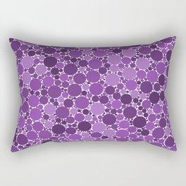 Sparse watercolor confetti dot colorful on white background. Chaotic pattern circle digital Rectangular Pillow
