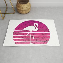 Flamingo Flamingos Walk Pink Colorful Retro Gift Rug