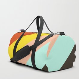Gullveig - Classic Abstract Minimal Retro Style Stripes Duffle Bag