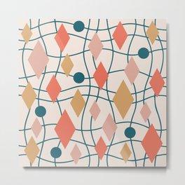 Colorful Mid Century Modern Geometric Abstract 130 Metal Print