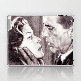 Charcoal Pencil Drawing of Bogey & Bacall, Dark Passage, Film Noir Laptop & iPad Skin
