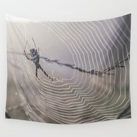 spider Wall Tapestries featuring Spider by LaiaDivolsPhotography