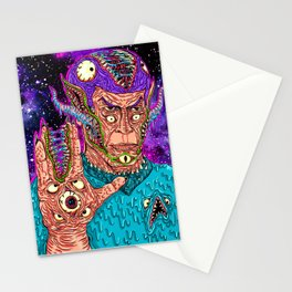 Monster Alien Stationery Cards