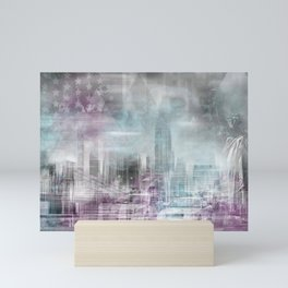 City Shapes MANHATTAN COLLAGE Mini Art Print