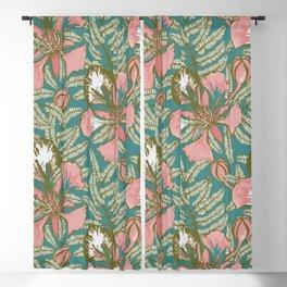 Poinciana Tropical Summer // Hand drawn Pattern Blackout Curtain