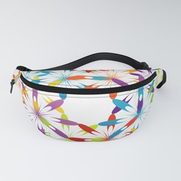 A large Colorful Christmas snowflake pattern- holiday season gifts- Happy new year gifts Fanny Pack