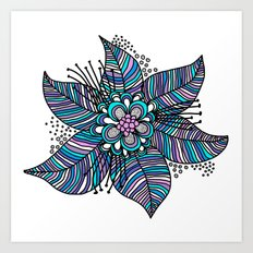 Line Floral Art Print