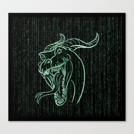 Wyrm in the Shell Canvas Print