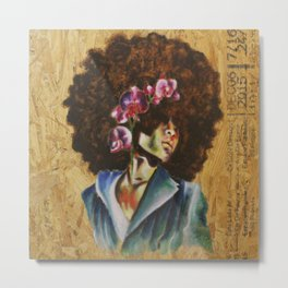 Her Lily- Purple Metal Print