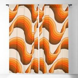 Golden Ribbons Blackout Curtain