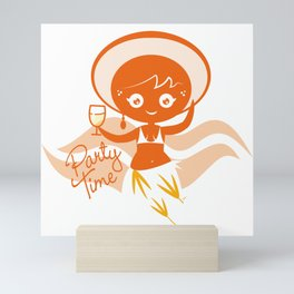 Party time Mini Art Print