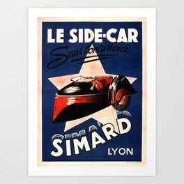 Simard Le Side Car Vintage French Advertising Art Print