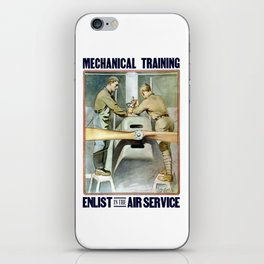 Enlist In The Air Service iPhone Skin